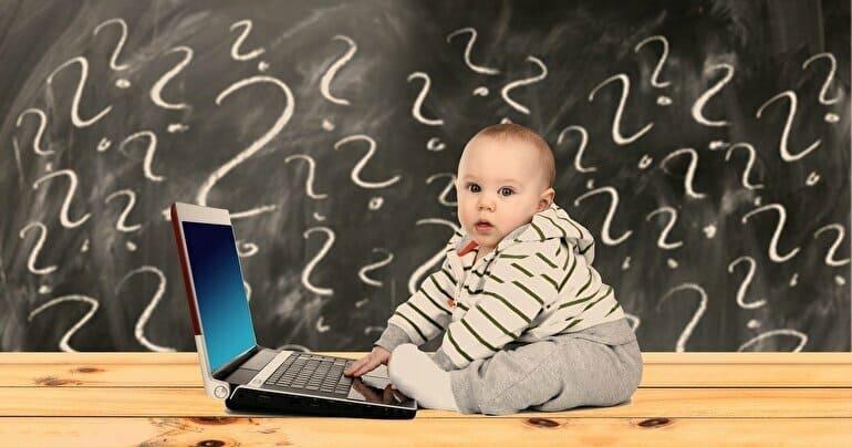 パソコンする赤ちゃん 疑問