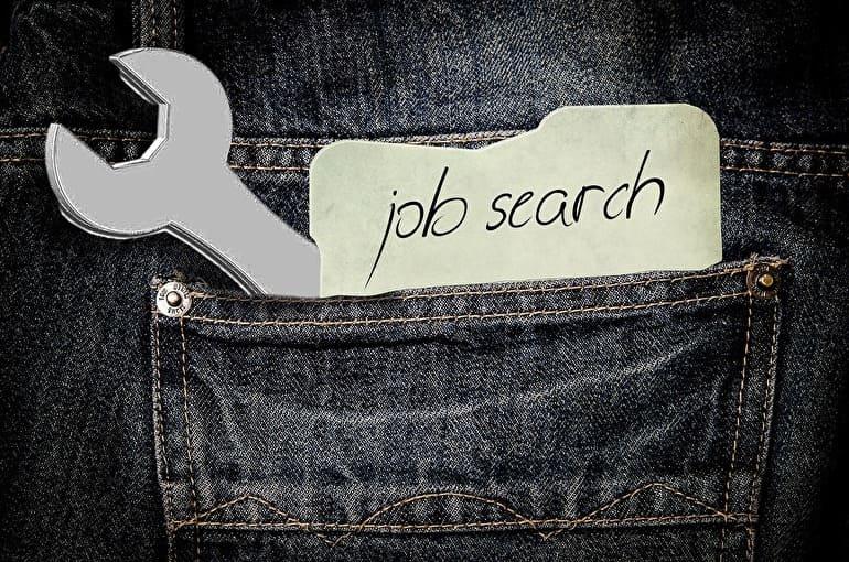 ポケットにJob searchの文字