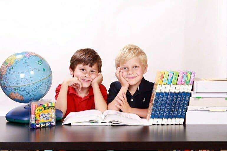 男の子ふたり英語学習