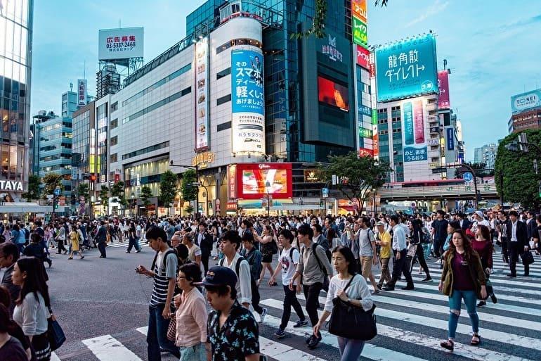 日本東京渋谷交差点